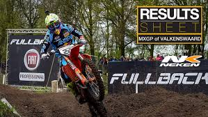 pro motocross results results sheet 2017 mxgp of valkenswaard motocross feature