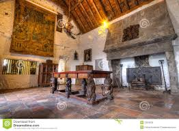 dinning room of 15th century bunratty castle editorial image