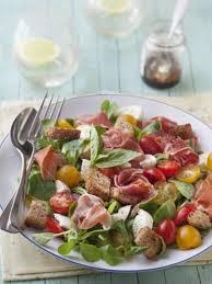 cuisine marmiton recettes food inspiration salade mâche jambon de bayonne mozzarella