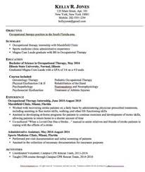 Sample Physical Therapy Resume by Occupational Therapy Resume Invitation Sample Pinterest