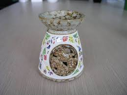 oil burner made from clay with glazed color