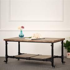 End Tables Living Room Amazon Com Ikayaa Wood Tea Coffee Table Cocktail Table Living