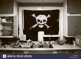 Picture Of A Pirate Flag Pirate Flag In Kitchen Of A Punk House In Bloomington Let U0027s