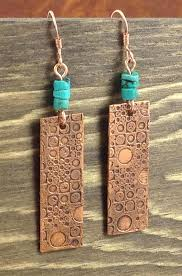 funky earrings funky etched copper earrings raindancer designs