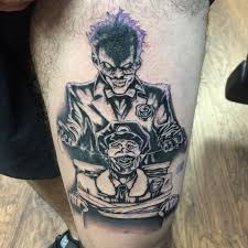 dark age tattoo studio tattoos black and gray supervillain