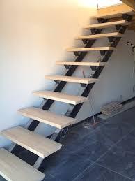 limon d escalier en bois escalier en metal double limons hv creation