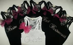 bridesmaids tank tops a gift with personality and message thanking the bridesmaids with