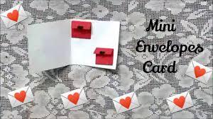 cara membuat kartu ucapan i love you mini envelopes card cute greeting card for valentine s day