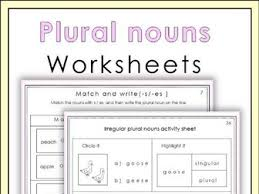 Plural Nouns Worksheets Plural Nouns Worksheets By Miss Teaching Resources Tes