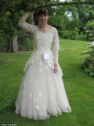widower who donated wife u0027s wedding dress to charity with touching