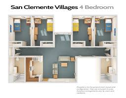 four bedroom townhomes san clemente villages ucsb housing dining auxiliary enterprises
