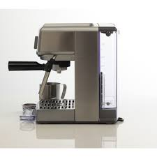 espresso maker how it works breville bes250bss compact cafe espresso machine at the good guys