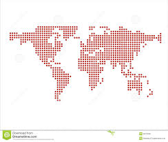 World Map Vector World Map In Dots Vector Royalty Free Stock Photo Image 2675245