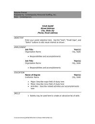 resume word document template word document templates resume saneme