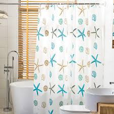Coastal Shower Curtains Funky White Coastal Peva Shower Curtains