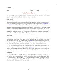 10 rules of table tennis e table tennis rules