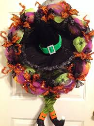 Halloween Deco Mesh Wreath C U0026 P Treasures 2014 Fall Decorating Ideas For The Porch And Outdoors