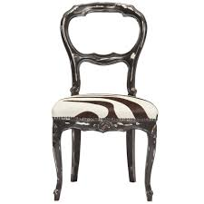 vintage zebra print chair