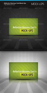 Pixel Size Of Business Card Reflection Business Card Mockup Lights Gray And The 3