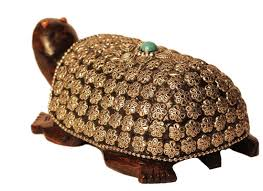 buy wooden turtle showpiece with metal artwork online at discount