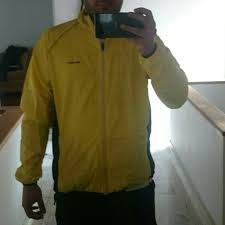 yellow waterproof cycling jacket windproof waterproof reflective long sleeve cycling jacket