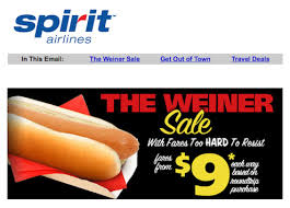 discount airline emails giant double entendre to unsuspecting