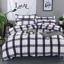 Customized Duvet Covers Aliexpress Com Buy Plaid Printing Duvet Cover Set Geometric Bed