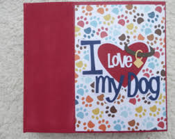 dog scrapbook album dog scrapbook etsy