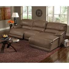warrin 3 pc leather sectional sofa with chaise with 1 power