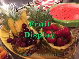 fruit displays fruit display pink glitter pumpkins