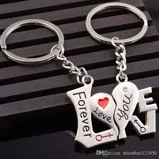 heart key rings images Best quality couple i love you letter keychain heart key ring jpg