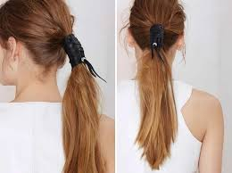 leather hair accessories edgy hair adornments leather hair tie