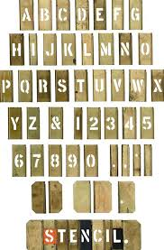 stencil letters the printed picture a survey of the process