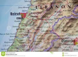 Beirut On Map Beirut Lebanon Map Stock Image Image Of Asia Syria 21200231