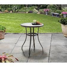 Espresso Bistro Table Mainstays Heritage Park 4 D X 27 H Bistro Table