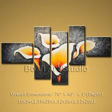 home decor wall pictures contemporary oil painting home decor wall art on canvas lily 1020