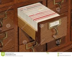 card catalog file drawer stock image image 5123431