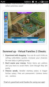 Home Design Cheats For Money Amazon Com Handy Virtual Families 2 Cheats Appstore For Android