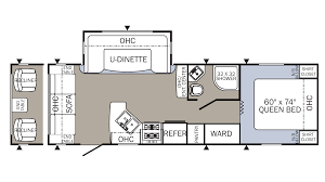 Fifth Wheel Floor Plans Bunkhouse 2018 Palomino Puma 253fbs Model