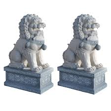 lion statue home decor feng shui classical protection symbol fu dogs