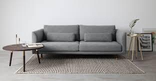 couch 3 sitzer jules 3 sitzer sofa alpengrau made com