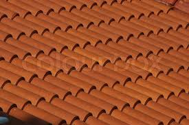 Terracotta Tile Roof Red Clay Tile Roof Texture Stock Photo Colourbox