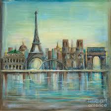 eiffel tower paintings fine art america