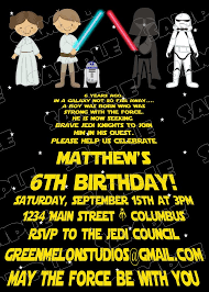 amazing star wars birthday invitations to create your own