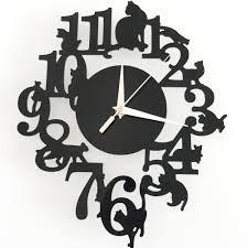 creative mordern diy geometric wall clocks decorative design wall