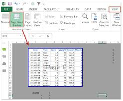 how to only show print area in a worksheet in excel