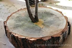 Tree Branch Centerpiece Tree Trunk Slice U0026 Branch Centerpiece Organize And Decorate