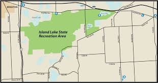 Where Is Michigan On The Map by Island Lake State Recreation Areamaps U0026 Area Guide Shoreline