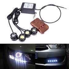 strobe lights for car headlights online shop 4in1 12v hawkeye led car emergency strobe light white