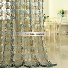 full image for elegant embroidery craftsmanship teal sheer curtain gold sheer organza curtains sheer curtains gold